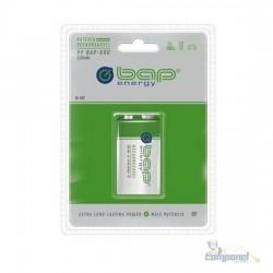Bateria 9v Recarregável BAP energy 320mAh BAP-680